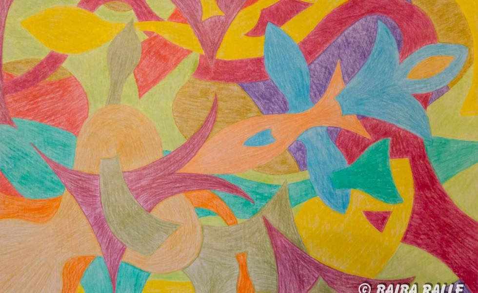 Abstrakcija Zivju zīmes stilā